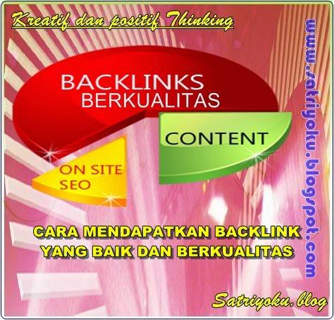 Tips mencari dan Mendapatkan Backlink berkualitas