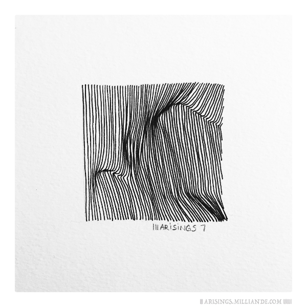||| 7 ||||||| Arisings, sketchbook, arisings, lines, pattern, surface design, surface pattern, textiles, journal, design, capi, milliande, rotation, point of view, observer, repetition, rotation,
