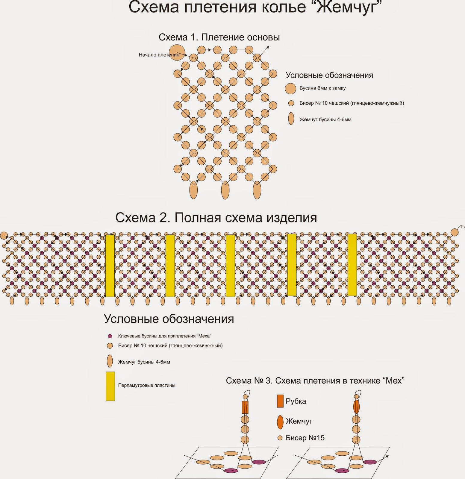 Плетение из бисера и описанием