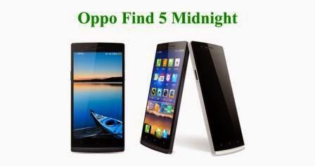 Harga Oppo Find 5 Midnight baru, Harga Oppo Find 5 Midnight bekas, Spesifikasi Oppo Find 5 Midnight
