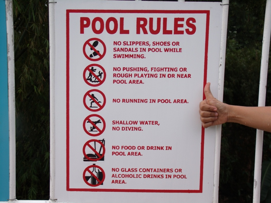 Home swimming pool rules music search engine at for Pool design rules