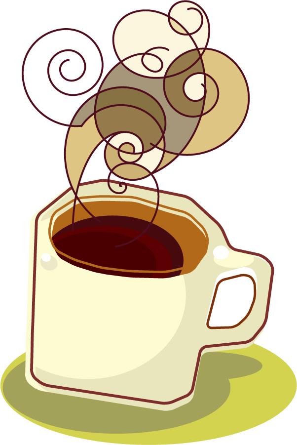 珈琲を題材にしたクリップアート coffee icon and background イラスト素材1
