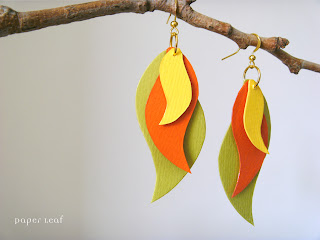 FireBird paper earrings by PaperLeaf