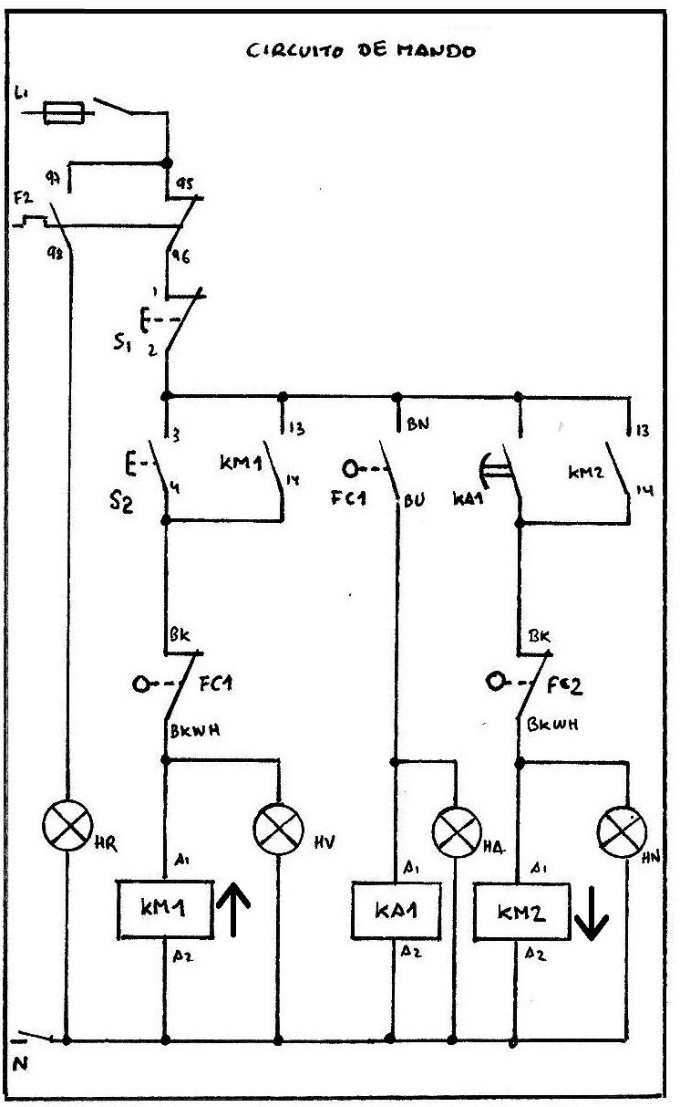 diagrama de un contactor