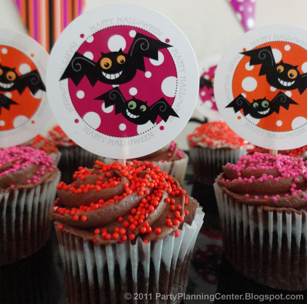 Party planning center free printable halloween cupcake topper decorations - Halloween decorations for cupcakes ...