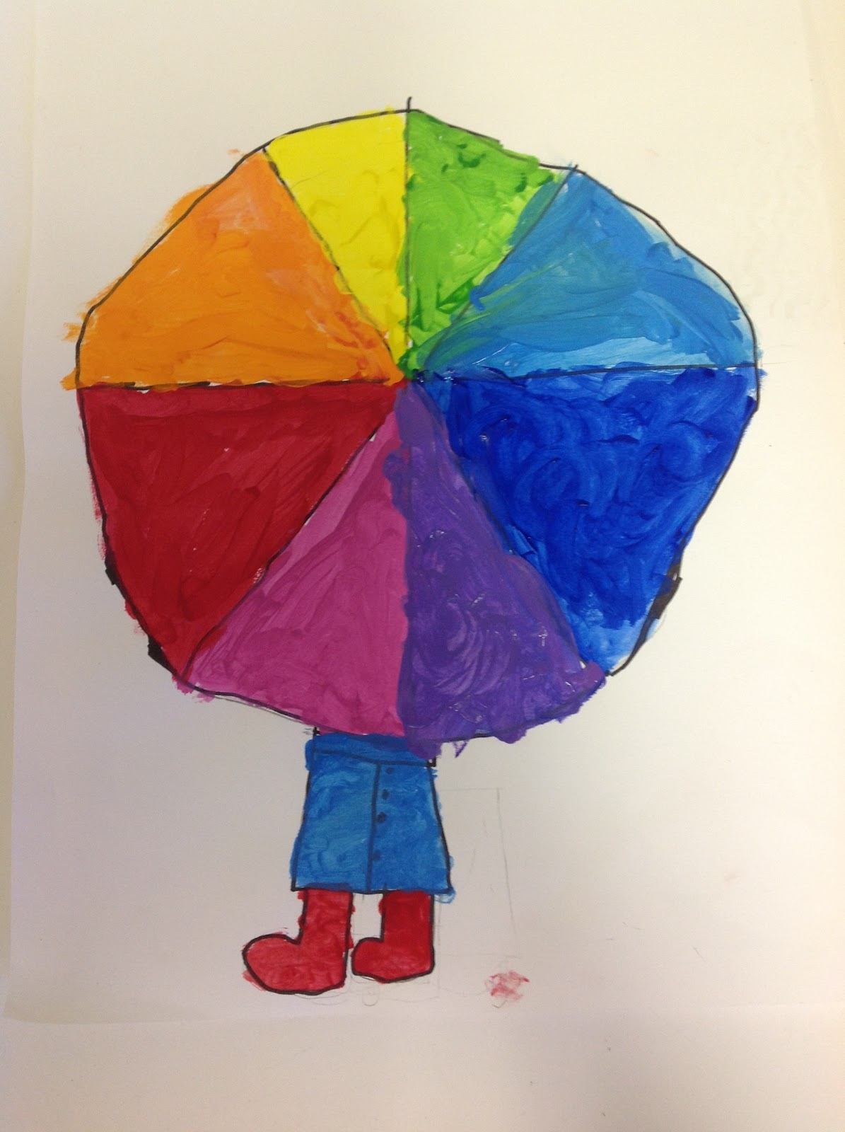 Color It Like You MEAN Wheel Umbrellas