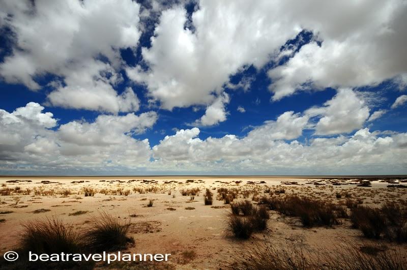 la depressione chiamata Pan-Etosha National Park