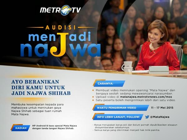 Audisi Presenter Menjadi Mata Najwa