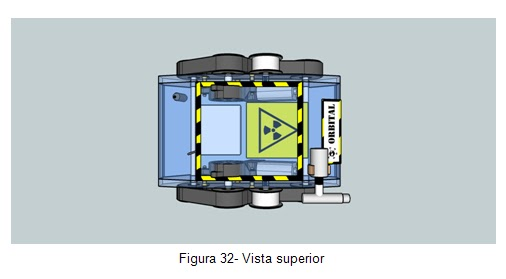 Vista superior- Veículo movido por esteiras Orbital