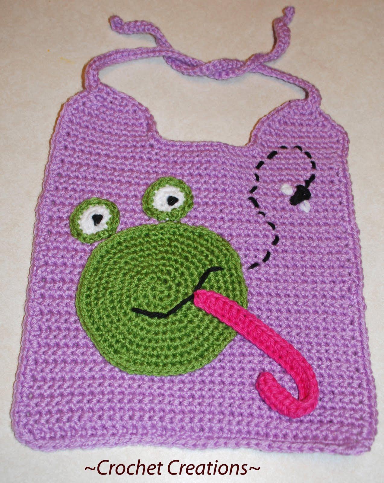 07B Monkey Baby Bib  Burp Cloth EASY! Crochet PATTERNS | eBay