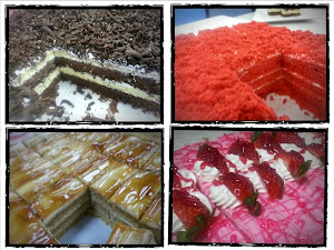 ANEKA SLICE CAKES..32 SLICES @ BOLEH KECILKAN MENJADI 64 SLICES)