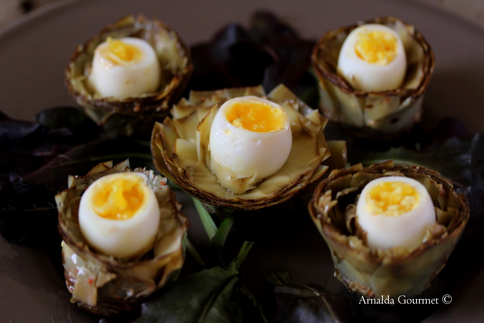 arnalda gourmet: carciofi sott'olio con uova di quaglia - Cucinare Uova Di Quaglia