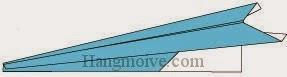 Bước 8: Hoàn thành cách gấp máy bay tiêm khích bằng giấy theo phong cách origami.