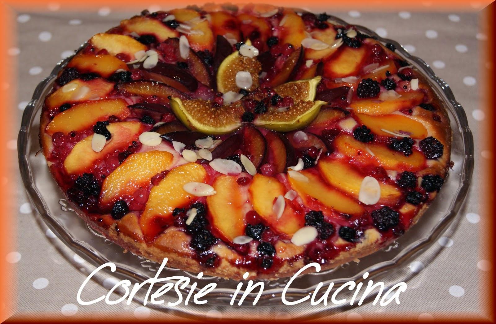 torta briochèe ai frutti d'estate
