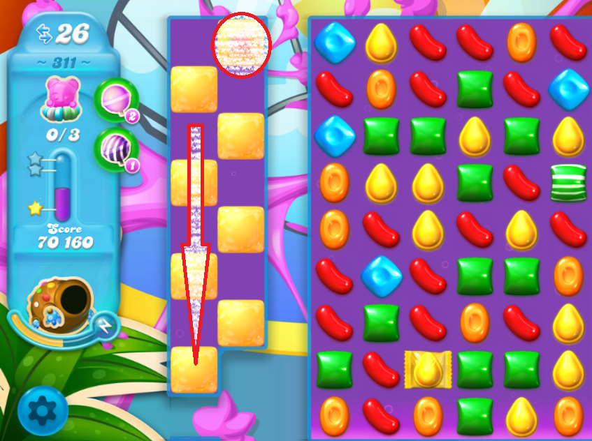 how to clear 95th level of candy crush saga