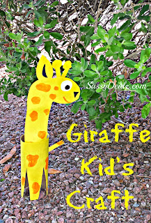 toilet paper roll craft giraffe diy