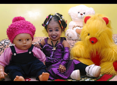Guinness World Records officials consider 17-year-old Jyoti Amge the world's shortest living teenage girl
