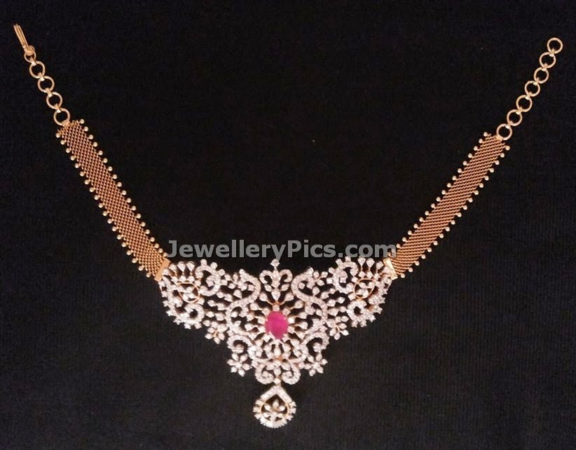 collar necklace choker and armlet 2 in 1 diamond jewellery