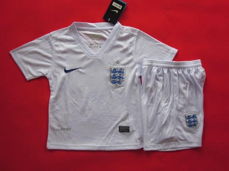 Jersey Kids Inggris Home Piala Dunia 2014