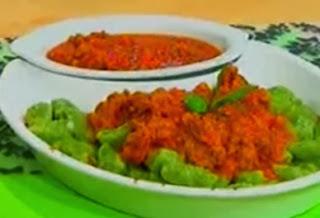 Receta Ñoquis de Espinacas con Salsa