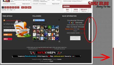 SONZBLOG ScrollBar, scroll bar, keren, mantap, sonz blog