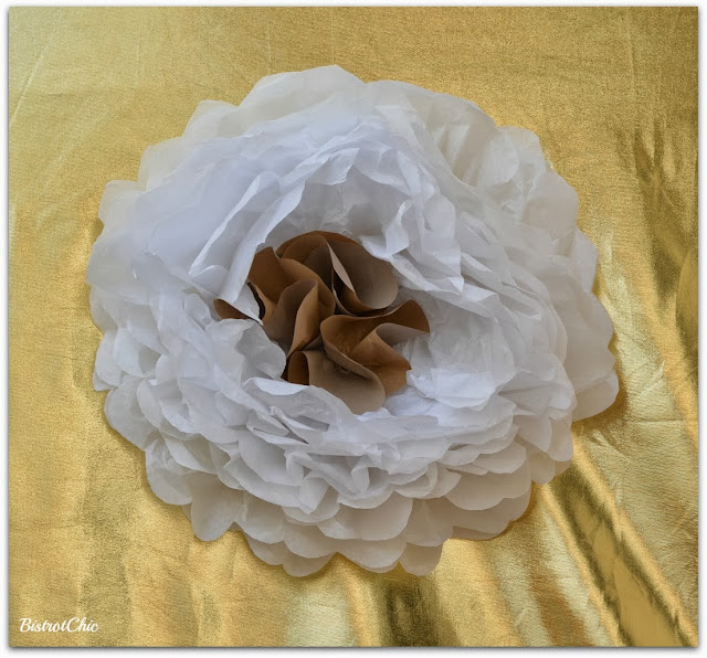 Glitter and Disco Ball Sparkling with Giant Paper Flower Party By BistrotChic
