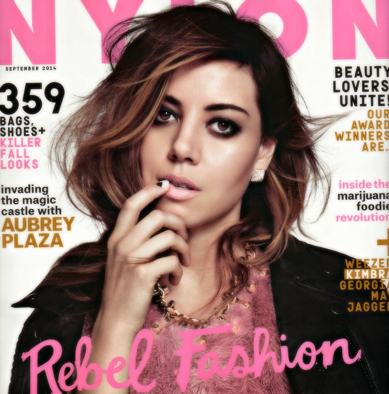 Aubrey Plaza - Nylon Magazine, September 2014 0