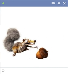 Scrat chasing acorn - icon for Facebook