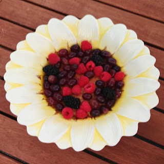 Fruit Salad in a Giant Daisy Bowl