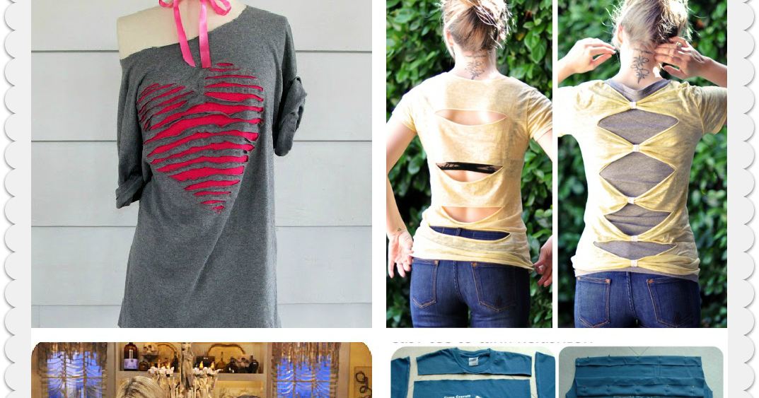 DIY Tshirts Ideas  pinterestfr