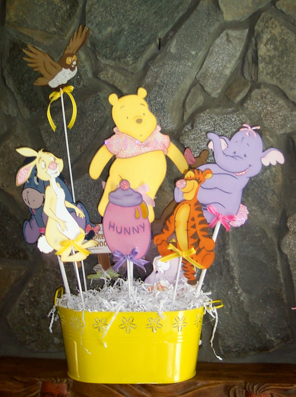 winnie the pooh centerpieces for baby shower baby pooh decorations