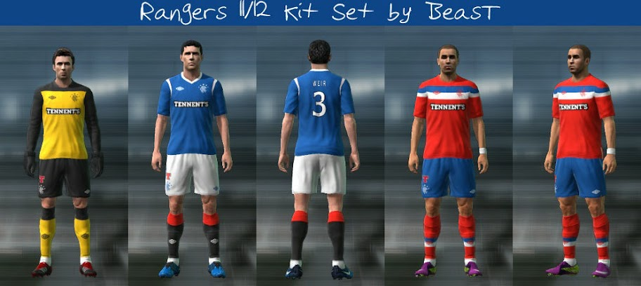 Rangers 11-12 Kit Set by BeasT