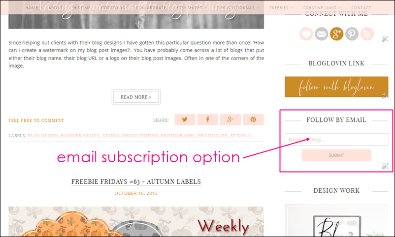 blogger email subscription