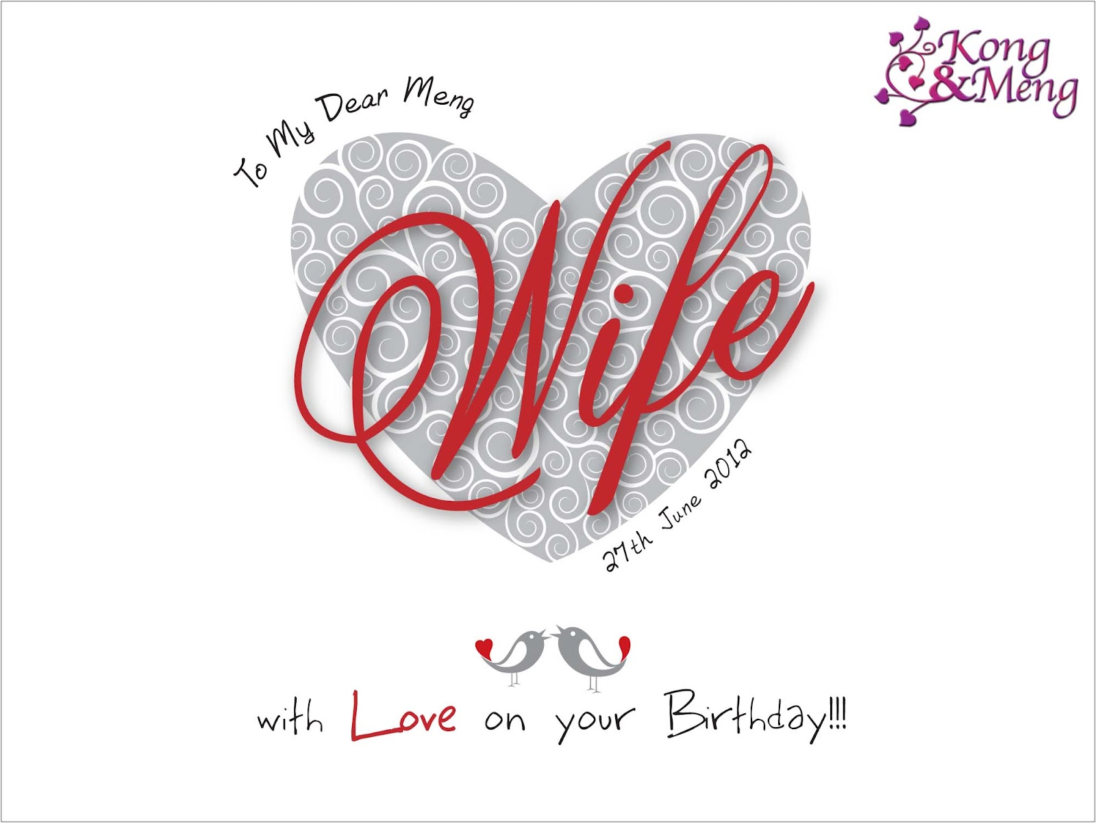 Luxury birthday cards for wife images laughterisaleap wife birthday card 2012 bookmarktalkfo Images