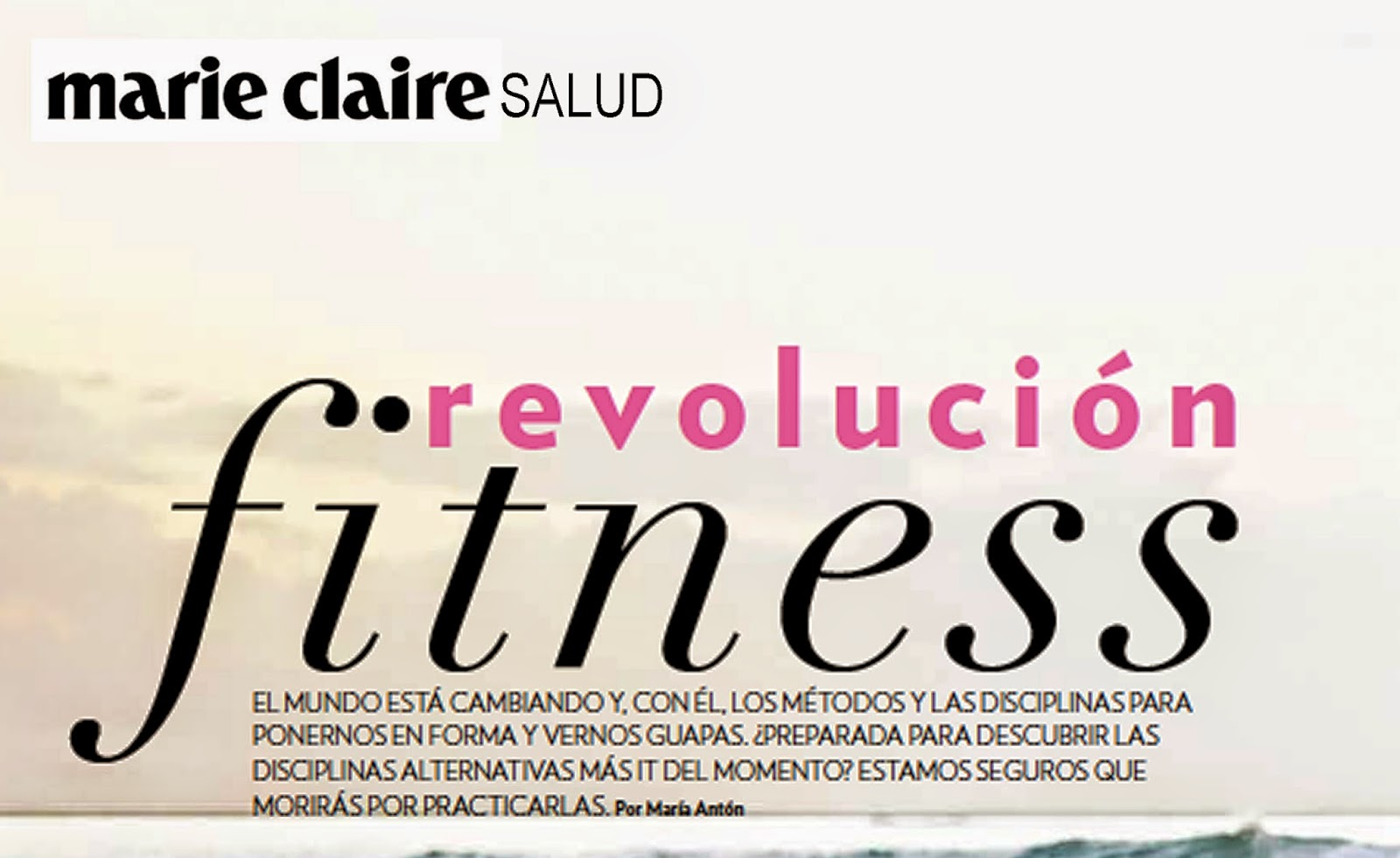 fitness, Pilates Aéreo , AeroYoga®: yoga aéreo en prensa Marie Claire México latino América