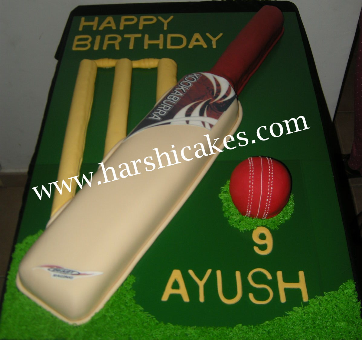 Harshi S Cakes Bakes Cricket Theme Cake For Ayush