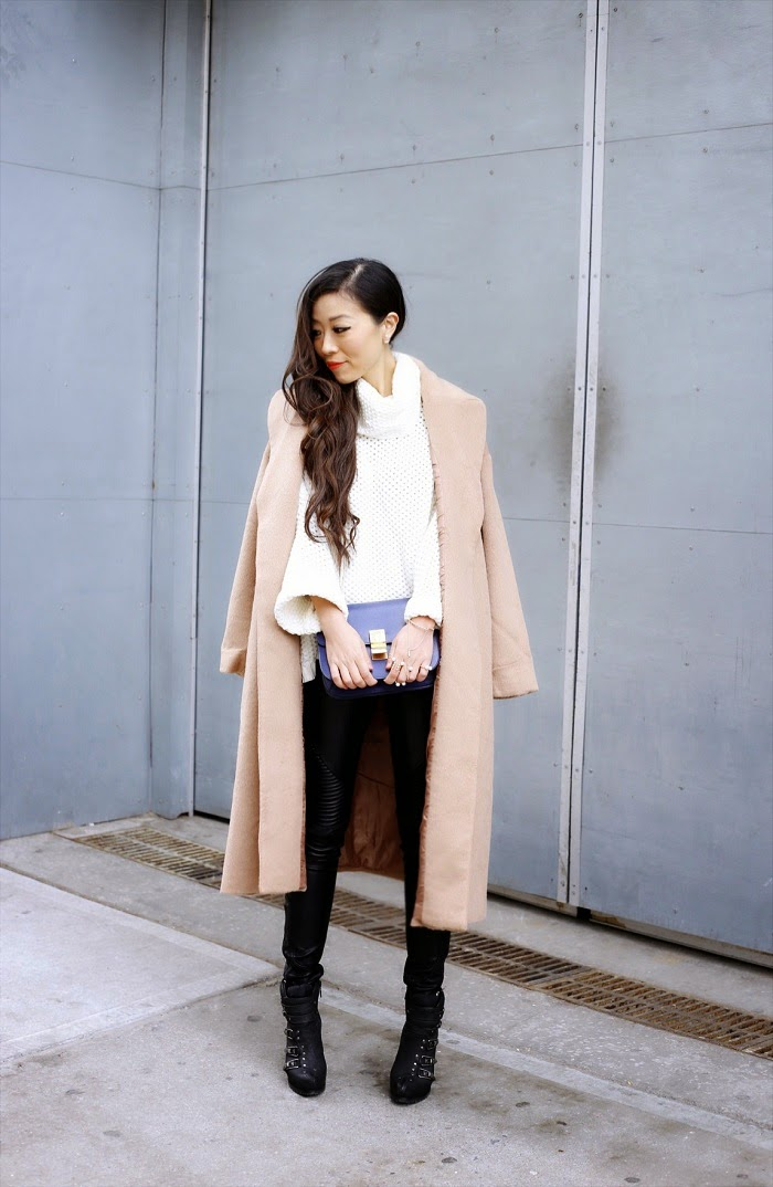 camel coat, asos oversized camel coat, streetstyle, celine classic box bag, nastygal oversized turtleneck sweater, blank denim pants, ash booties, baublebar 360 pearl studs, baublebar pearl ring, nastygal pearl ring, nastygal do it better, fashion blog, winter streetstyle, kendra scott my avant garden bracelet