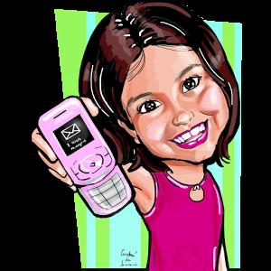 Caricatura do site www.msgparacelular.com.br