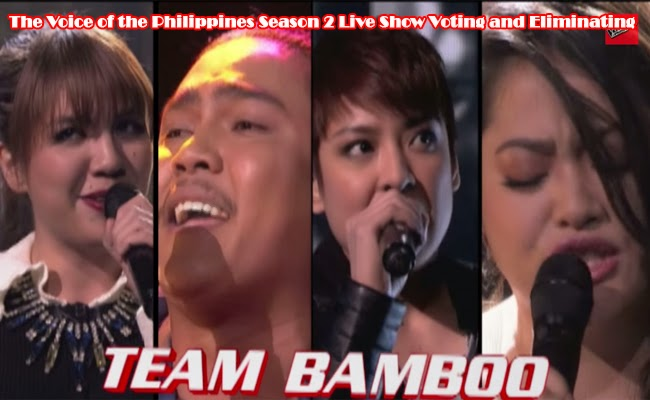 The Voice of the Philippines Season 2 Live Show Voting and Eliminating Team Bamboo Part 1 February 8, 2015