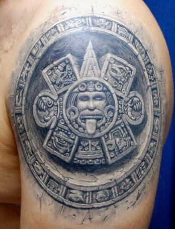 mayan calendar tattoo cool design 3D