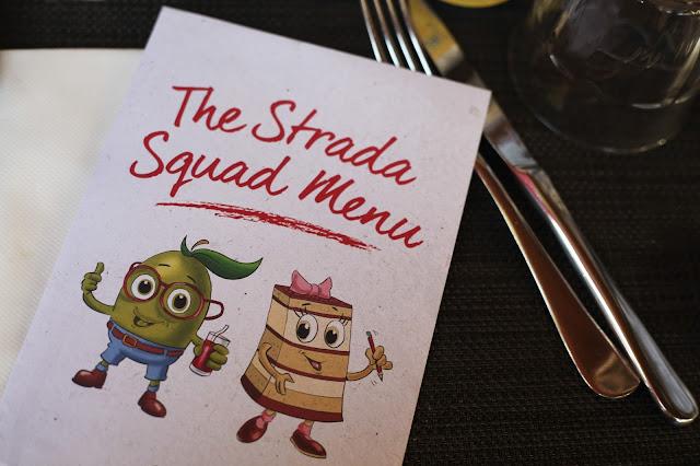 Strada kids menu