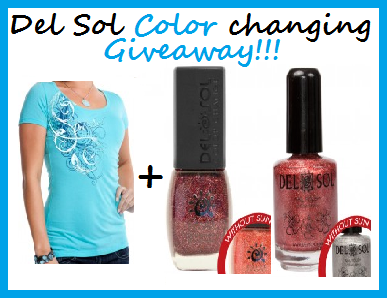 Enter to win the Del Sol Color Changing Giveaway, Ends 10/15