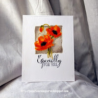 Paper Learning Curve- Grá O'Neill: Clearly Besotted Stamps Brushed Poppies, Fabulous Fuchsias