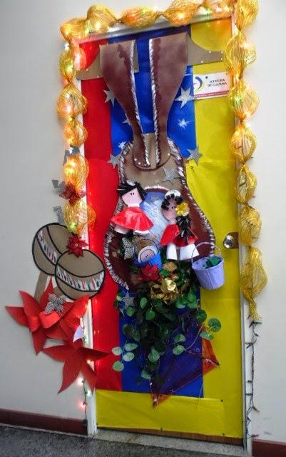 Modelos adornos con material de provecho decoracion de for Puertas decoradas navidad material reciclable
