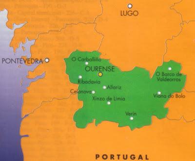 Ourense mapa