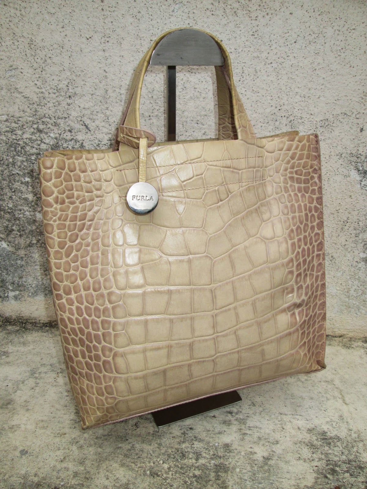 D0rayakeebag Authentic Furla Croc Leather Tote Handbag Sold