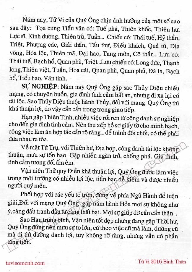 tử vi canh ty 2016