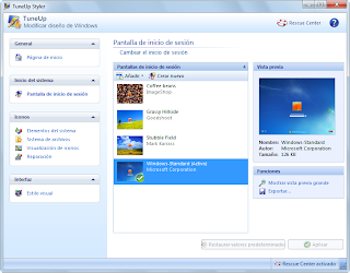panel de control de styler - personalizar windows