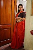 Archana veda in red saree photos-thumbnail-5