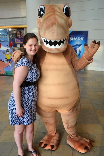 Giggy A. Dinosaur, with Rachel, Fernbank Museum of Natural History